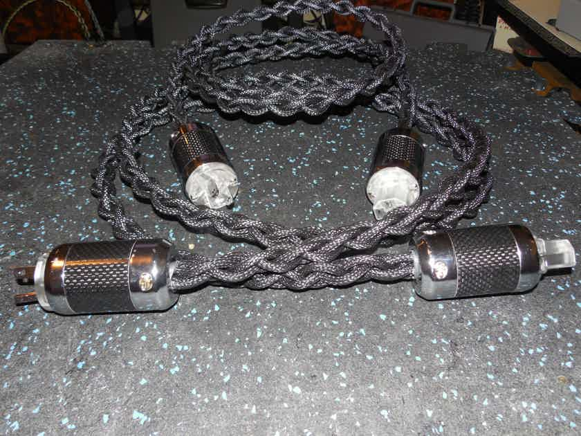 Black Shadow SILVER/RHODIUM CARBON FIBER Connectors 9AWG HIGH CURRENT