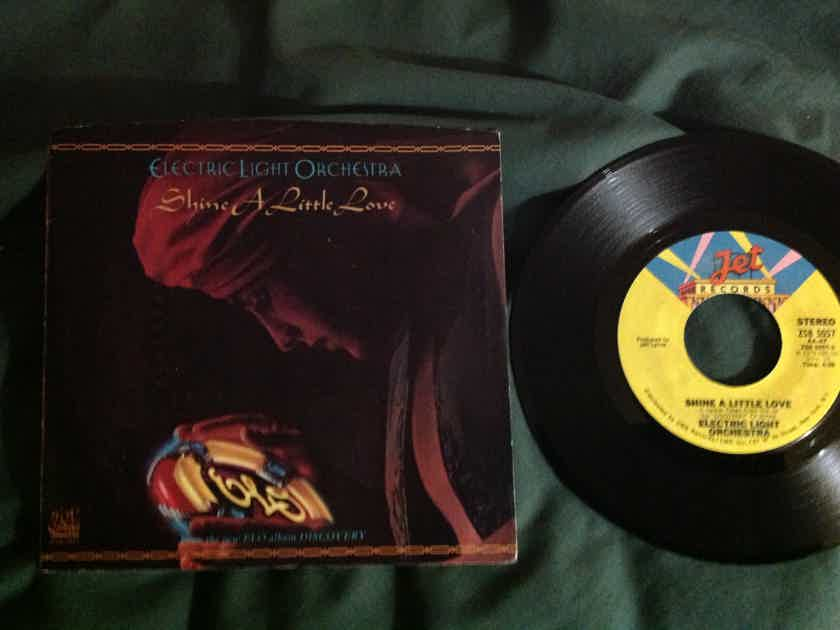 ELO - Shine A Little Love/Jungle Jet Records 45 Single  With Picture Sleeve Vinyl NM