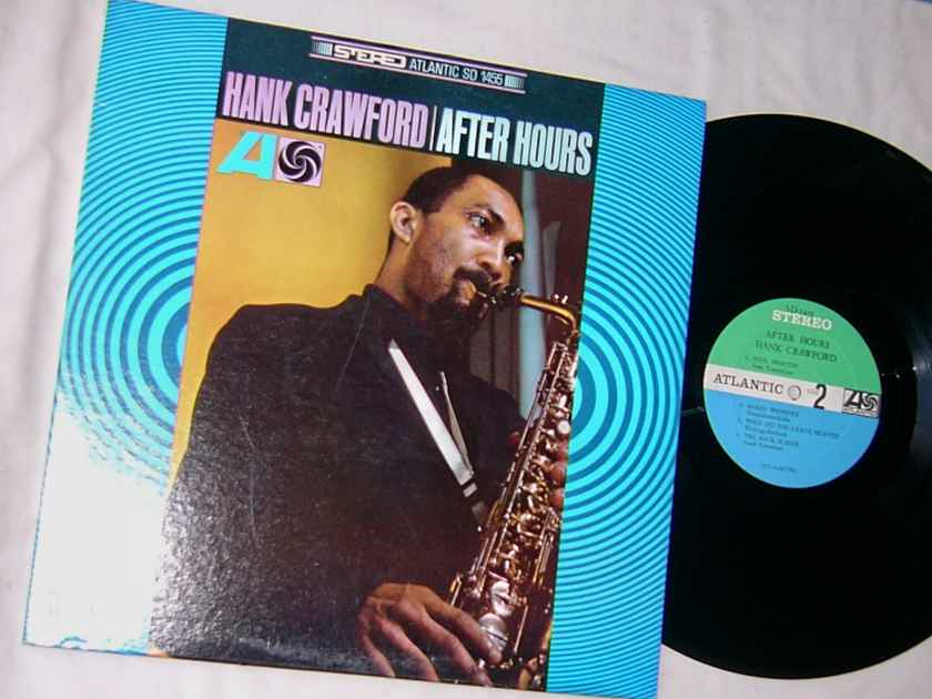 HANK CRAWFORD - AFTER HOURS - - RARE ORIG 1967 JAZZ LP  - ATLANTIC SD 1455