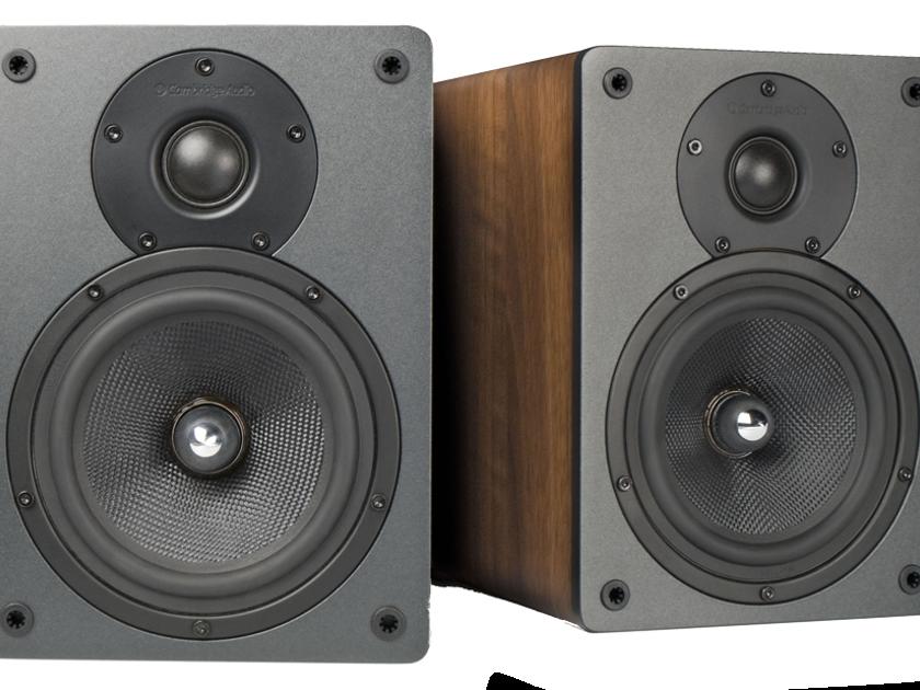 Cambridge Audio S30 Bookshelf Speakers; Walnut Pair; S-30 (New) (20897)