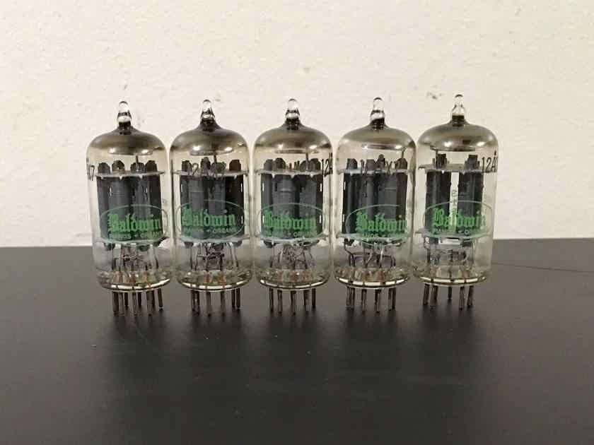 5 test nos sylvania long gray plate 12ax7 tubes