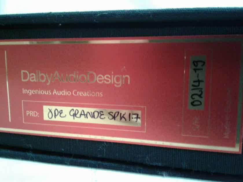 Dalby Audio Ode Grande 1.7m speaker cables