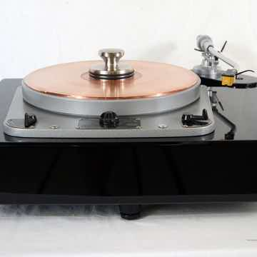 "Garrard 301 Turntable with Panzerholz Plinth, Denon 308 12"" Tonearm and Galileo SX Phono Cable"