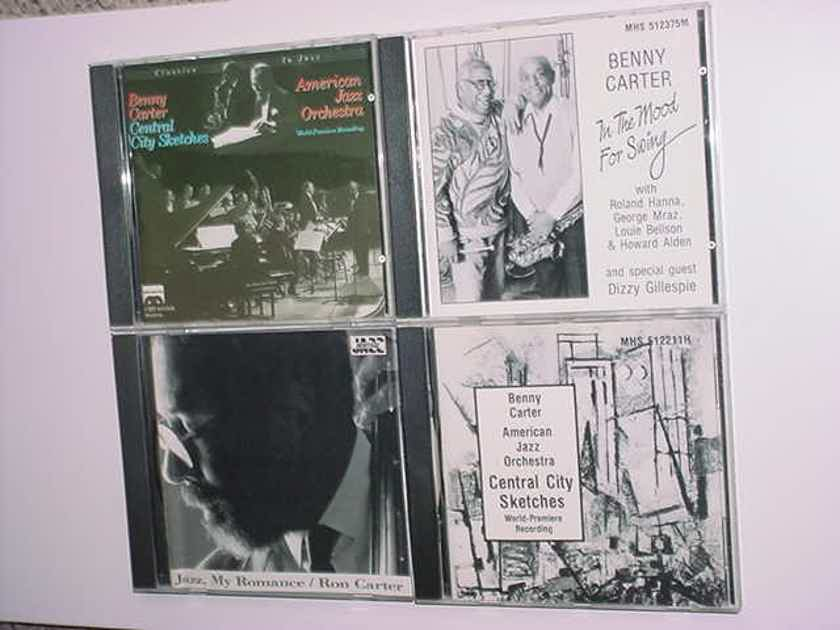 jazz cd lot of 4 cd's 3 Benny Carter 1 Ron Carter