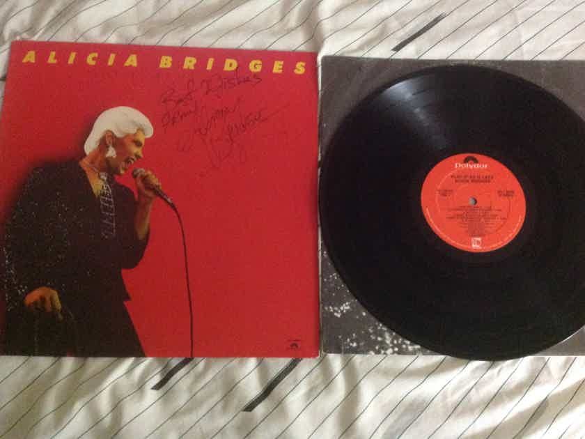 Alicia Bridges Play It As It Lays Autographed Cover