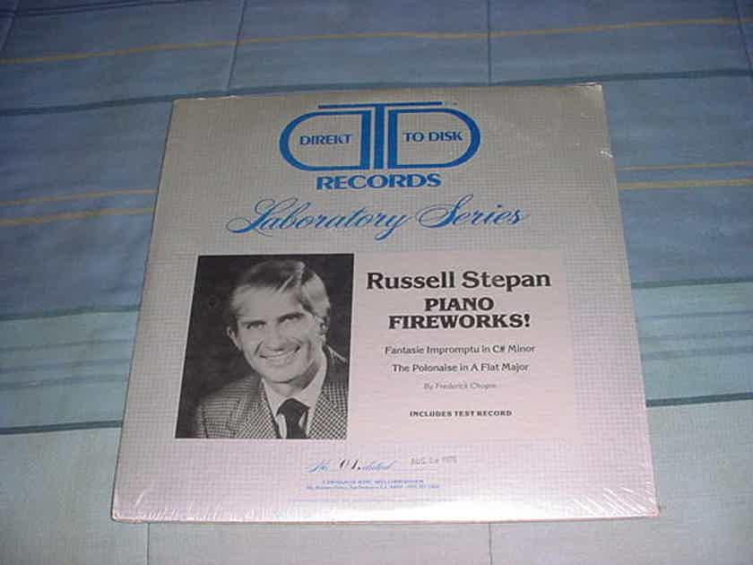 SEALED Audiophile direkt to disk virgin vinyl double lp Russell Stepan piano fireworks Classical test record