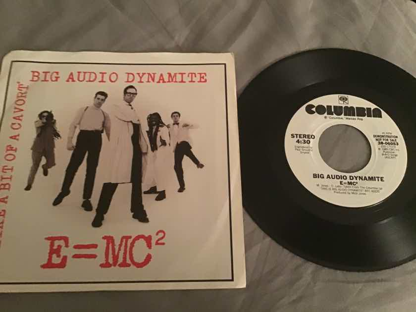 Big Audio Dynamite Promo 45 With Picture Sleeve Vinyl NM
