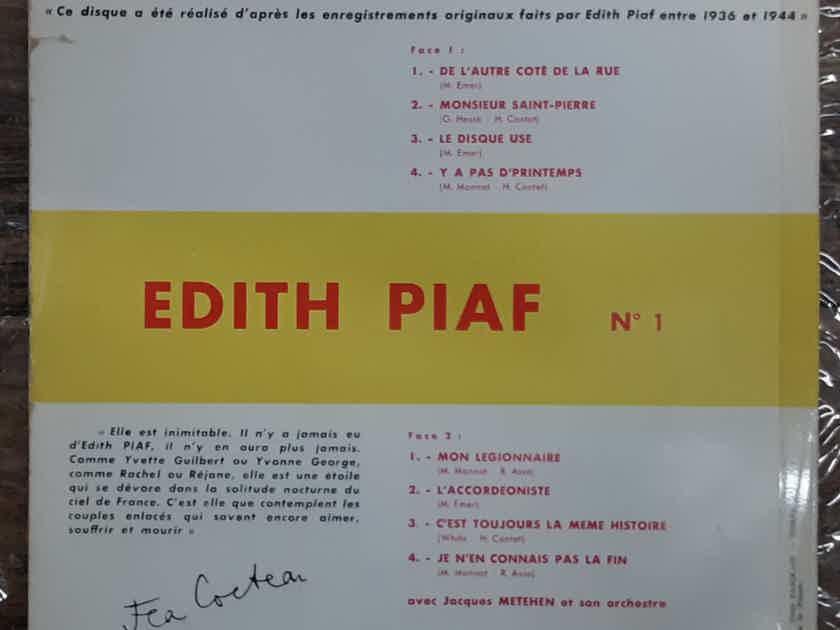Edith Piaf - N° 1 EX 1963 10 Inch Vinyl LP Record FRANCE Philips B 76.081 R
