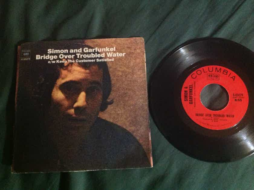 Simon & Garfunkel Bridge Over Troubled Water With Picture Sleeve
