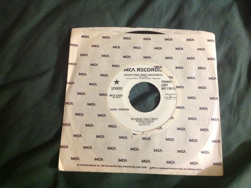 Roger Daltrey - Martyrs And Madmen Promo 45 NM