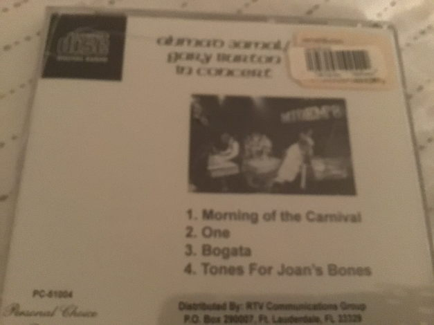 Ahmad Jamal Gary Burton Sealed Compact Disc