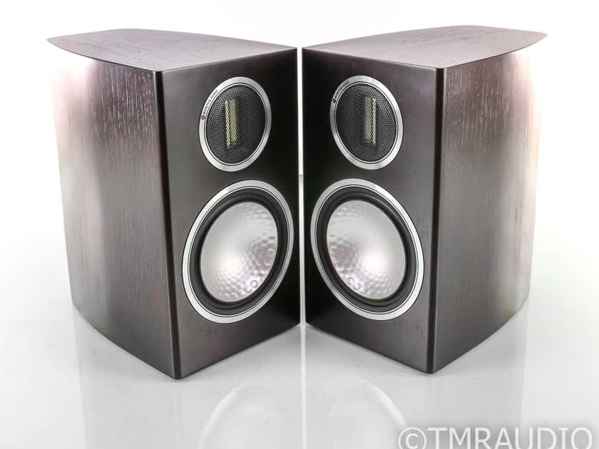 Monitor Audio Gold 100 Bookshelf Speakers; GX100; Dark Walnut Pair (27821)