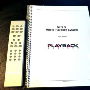 Playback Designs MPS-5 Reference