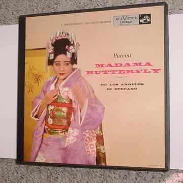 PUCCINI Madama Butterfly 3 lp record box set DE LOS ANGELES Di Stefano RCA LM-6121