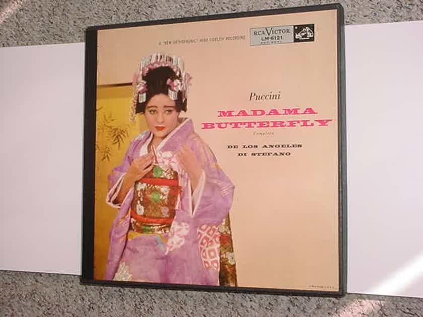 PUCCINI Madama Butterfly 3 lp record box set DE LOS ANGELES Di Stefano RCA LM-6121
