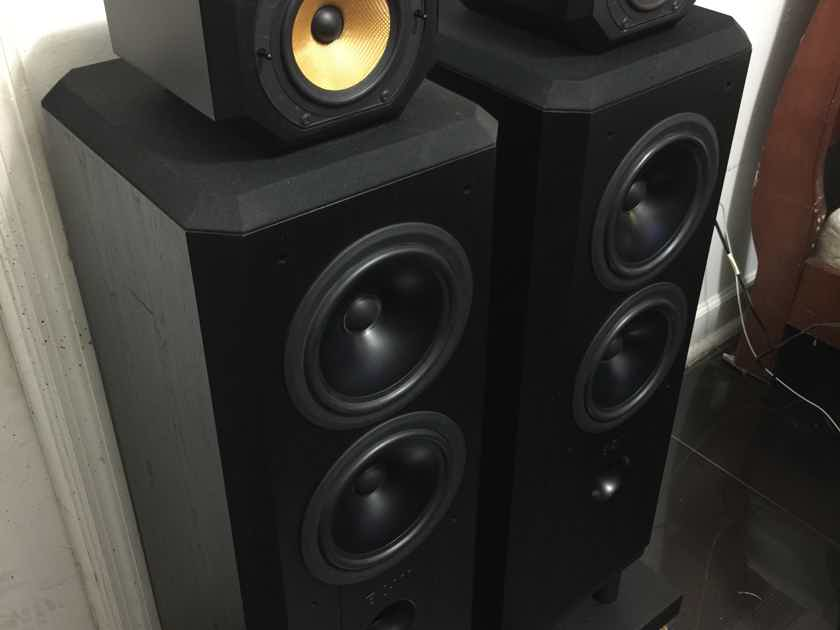 B&W MATRIX 802S3 WITH SOUND ANCHORS STANDS