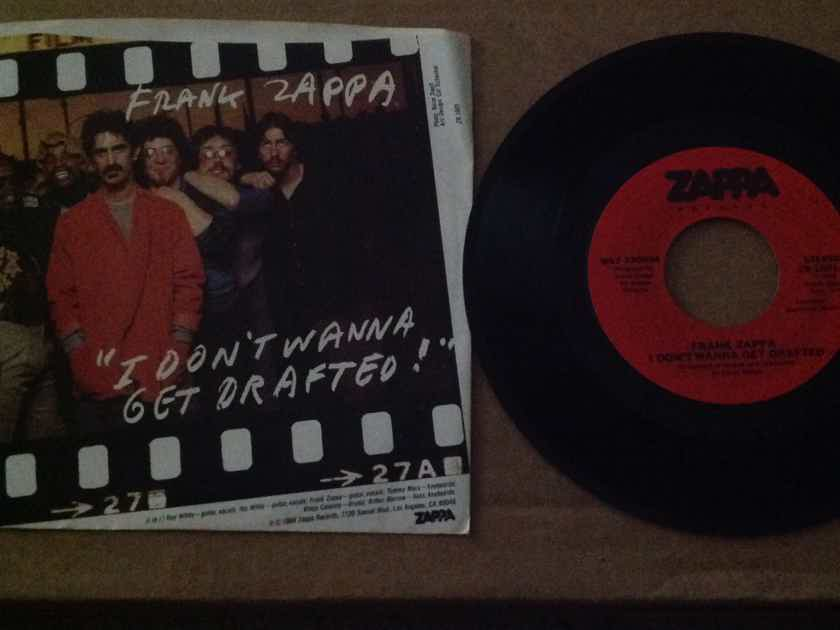 Frank Zappa - I Don't Want To Get Drafted/Ancient Armaments Zappa Records 45 Single  With Picture Sleeve Vinyl NM