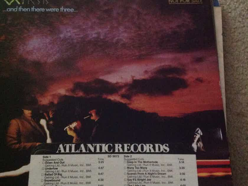 Genesis - And Then There Were Three Atlantic Records LP Vinyl NM Promo LP With DJ Timing Strip