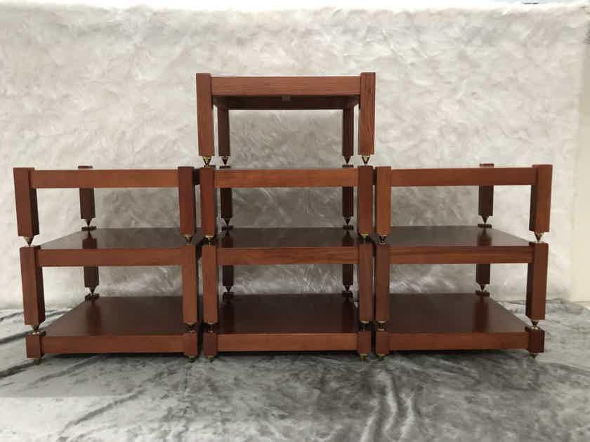 Audio Component Rack AV Stand Electronics Equipment (10 shelves) 100% natural ASH