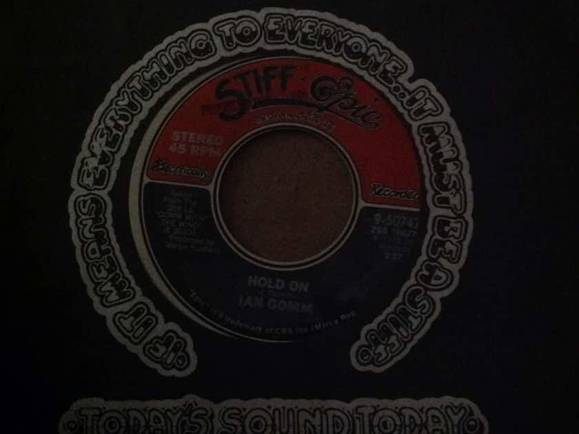 Ian Gomm - Hold Down/Another Year Stiff Epic Records 45 Single Vinyl NM