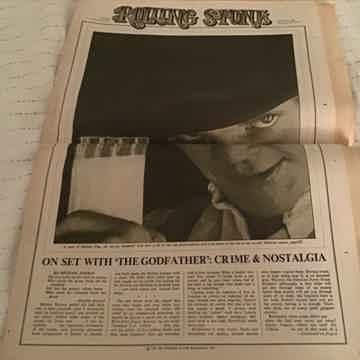 Jerry Garcia  Rolling Stone Magazine Issue 100 Jan 20,1972