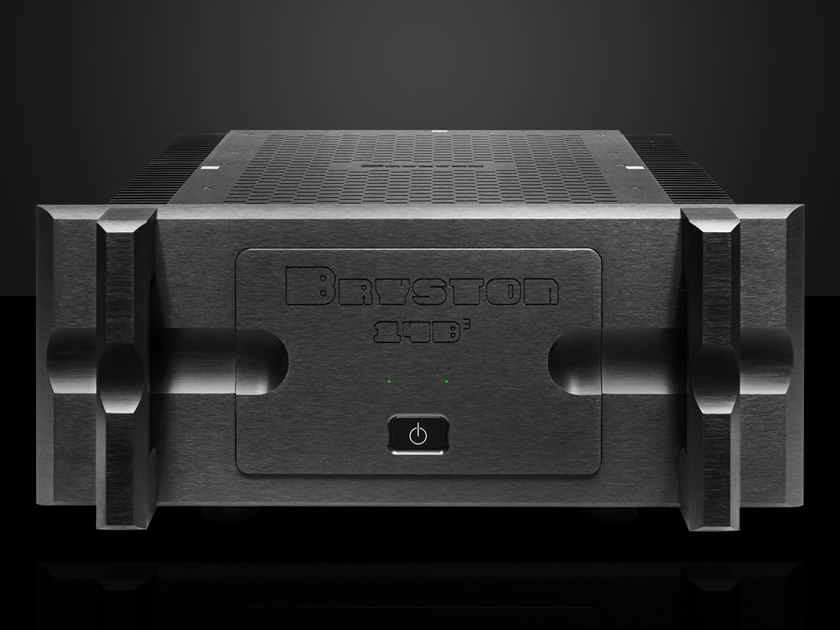 """Bryston 14B-3 (cubed) black / 19"""" with handles / green LEDs"""