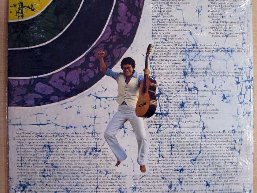 Meg Christian - Face The Music 1977 SEALED VINYL LP Olivia Records LF913