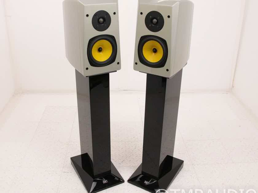 Music Culture MC RL 21 Bookshelf Speakers; Silver Pair w/ SS1 Black Stands (18952)