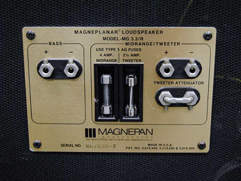 Magnepan MG-3.3r Magneplanar Loudspeakers | Planars | Audiogon