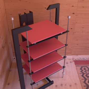 Novus, isolation platform with four shelves,