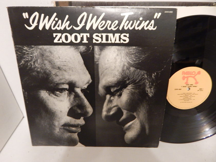 ZOOT SIMS I Wish I Were Twins - Jimmy Rowles Frank Tate 1981 Pablo Jazz Bop LP NM