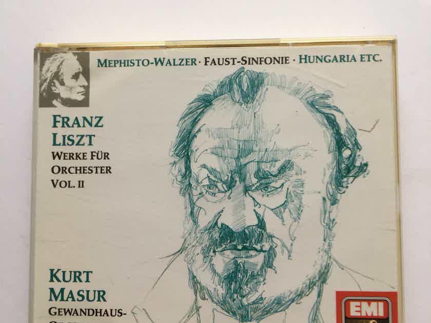 Franz Liszt Kurt Masur Mephisto Walzer Faust  Werke fur orchestra vol II  3 Cd set EMI 1990