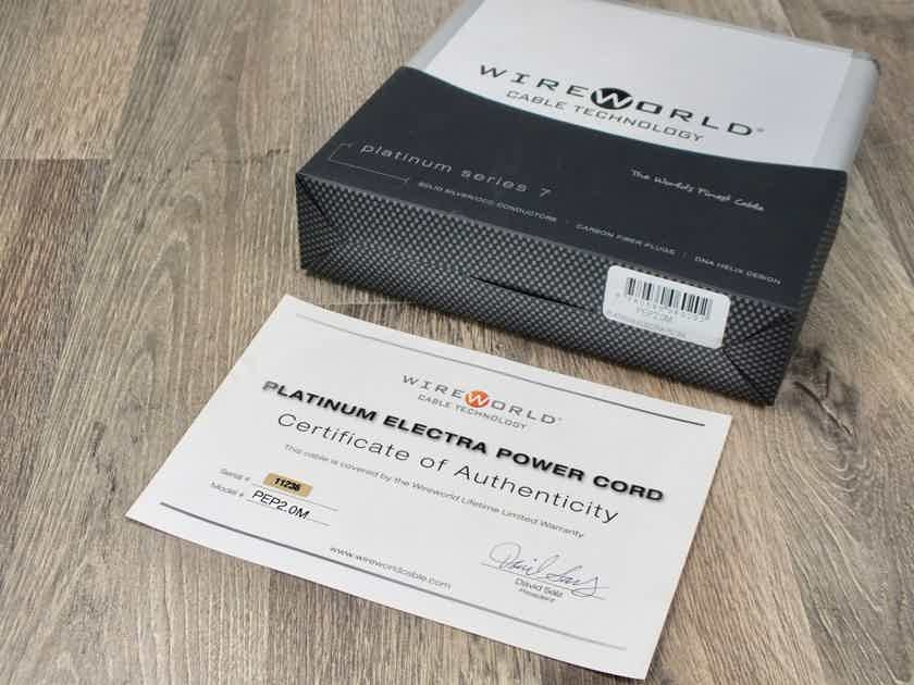 Wireworld Platinum Electra 7 power cable 2,0 metre