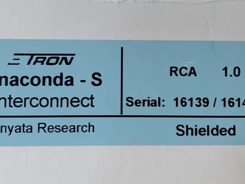 Shunyata Research Anaconda Zitron phono cable 1.0m
