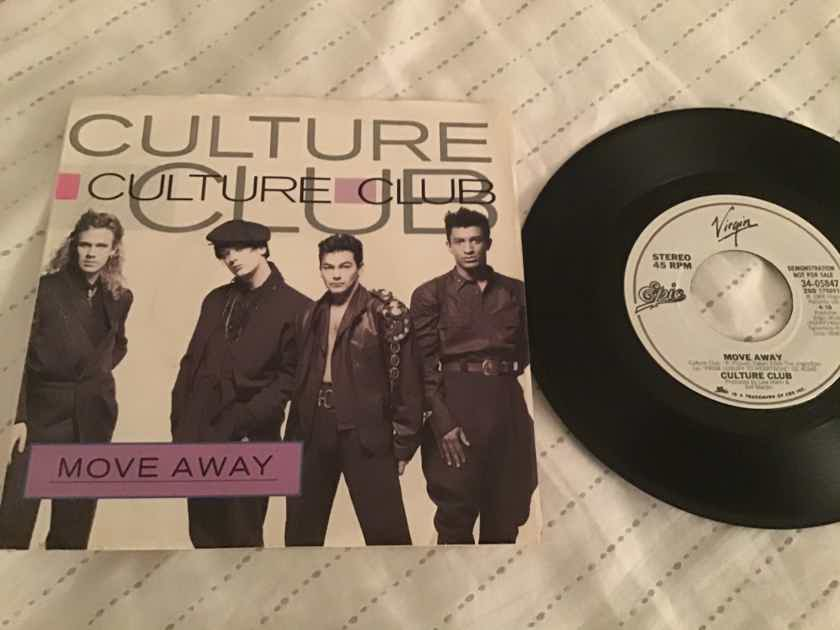 Culture Club Move Away Promo 45 With Picture Sleeve