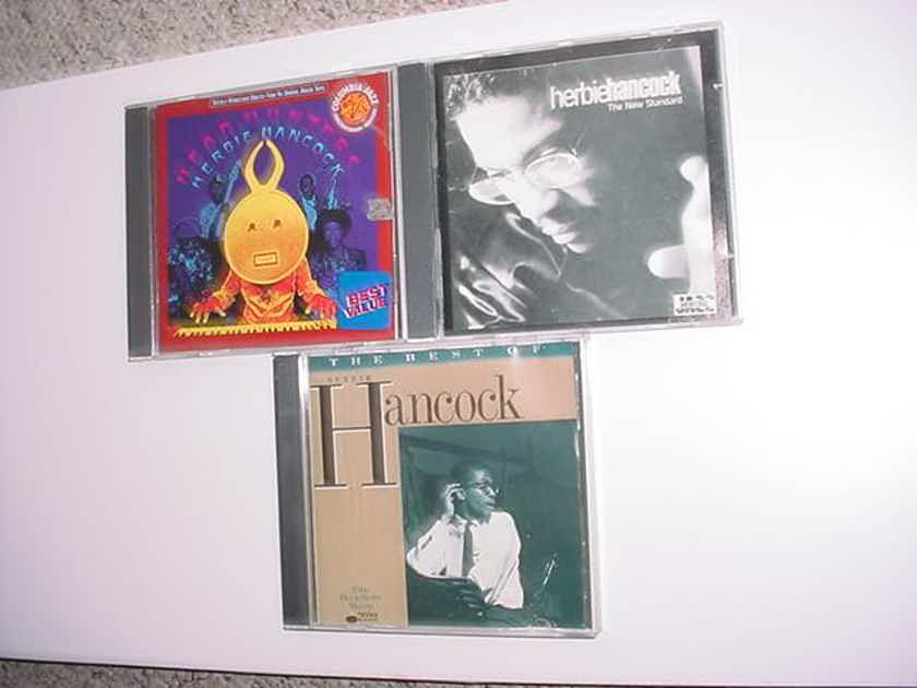 JAZZ HERBIE HANCOCK cd lot of 3 cd's best of Head Hunters & the new standard