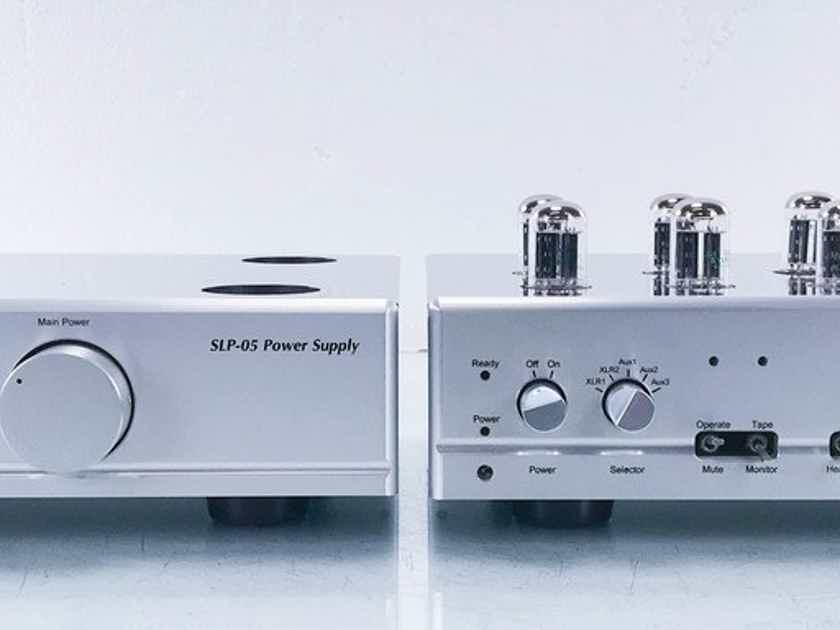 Cary SLP-05 Stereo Tube Preamplifier Silver; Remote (13355)
