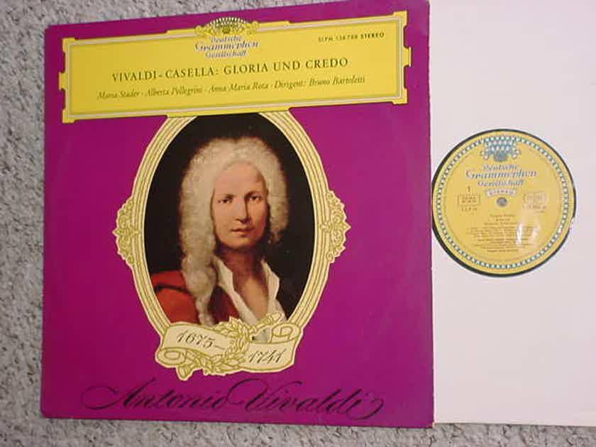 Vivaldi Casella Gloria Und Credo lp record - Deutsche Grammophon 138 788 stereo Stader Pellegrini Rota Dirigent Bartoletti