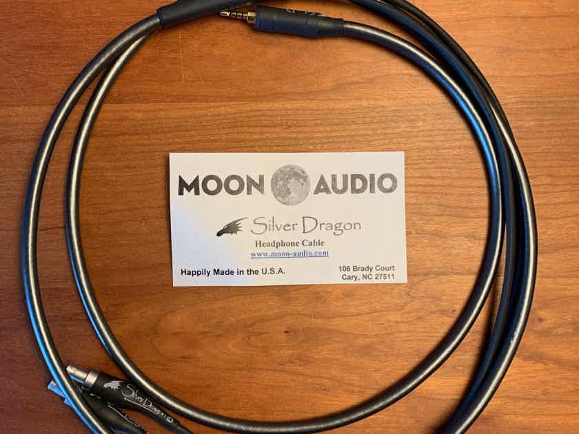 Moon Audio Silver Dragon V3 Sennheiser Headphone Cable - balanced gold 2.5mm mini plug for AK players and similar