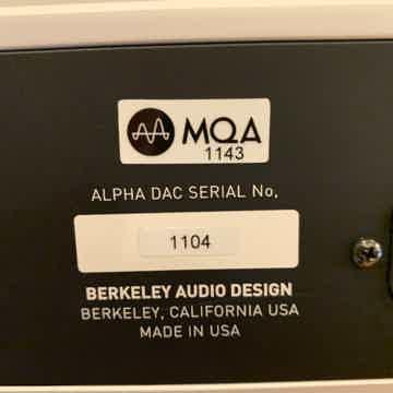 Berkeley Audio Design Alpha DAC Reference Series 1 MQA