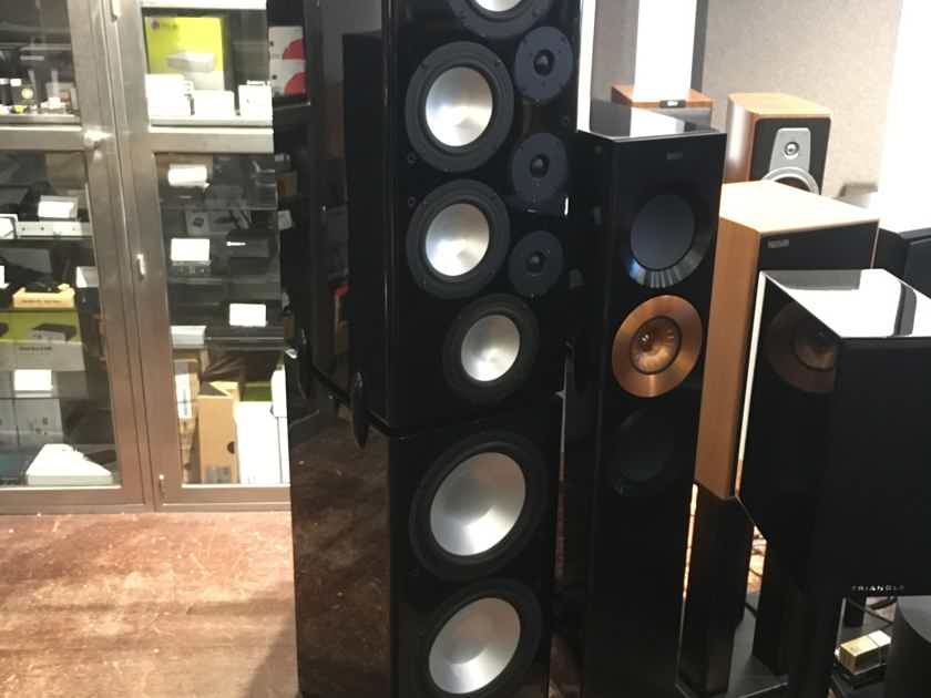 RBH T2P  tower speaker with powered woofers in gloss black