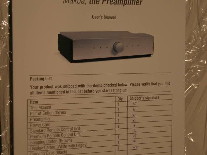 Mola Mola Makua DAC/Preamp, PRICE REDUCED!  Free Rhodium mains cable!