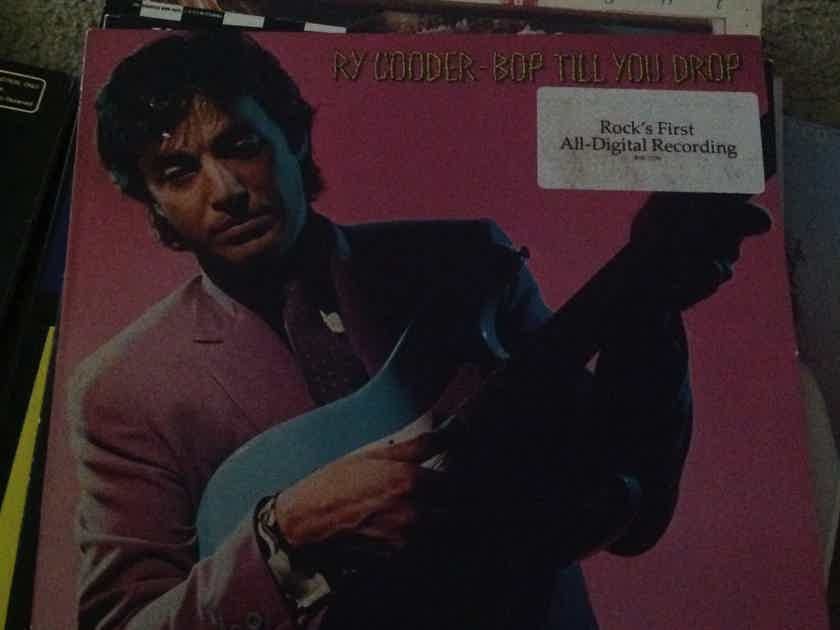 Ry Cooder - Bop Till You Drop Warner Brothers Records Hyper Sticker Front Cover Vinyl NM