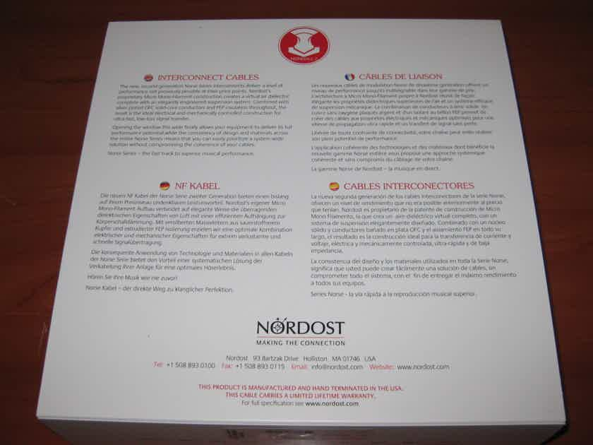 Nordost Heimdall 2 Interconnect Cable. 1 meter long. RCA.