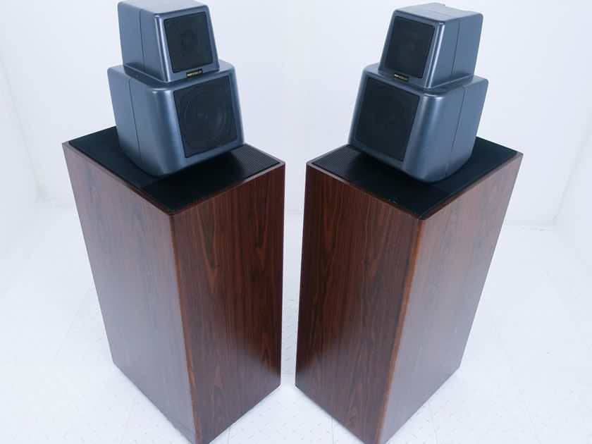 KEF Reference Model 107 Floorstanding Speakers Vintage Rosewood Pair w/ Kube (16237)
