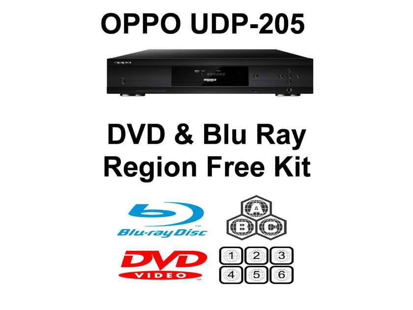 Oppo UDP and BDP Models DVD and Blu Ray Region Free Unlock Kit
