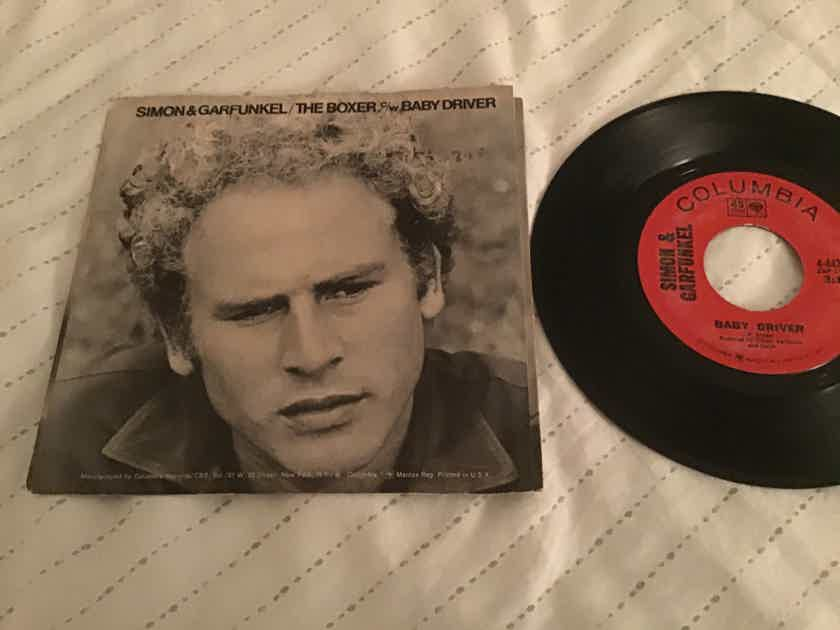 Simon & Garfunkel  The Boxer/Baby Driver 45 With Picture Sleeve