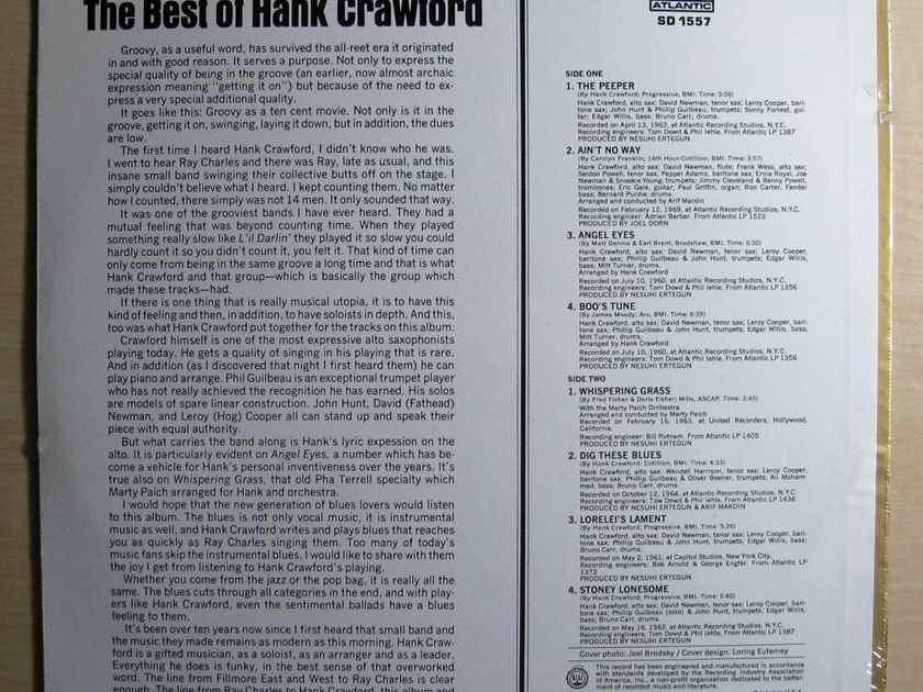 Hank Crawford - The Best Of Hank Crawford - SEALED 1970 Atlantic SD 1557