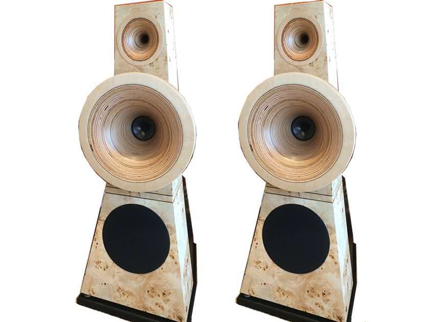 Odeon Audio No. 28 SE 3-way Horn Speakers (TULIP Poplar): EXCELLENT Demo; Full Warranty; 50% Off - FREE SHIPPING