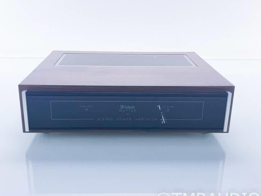 McIntosh MC7100 Stereo Power Amplifier; MC-7100 w/ Walnut Cabinet; Late Model (17035)